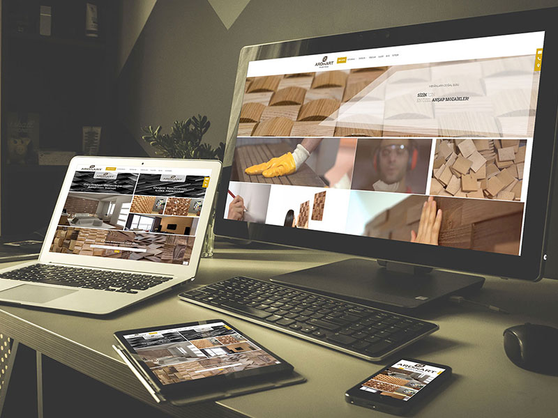 Ardinart Wooden Mosaic Web Tasarım
