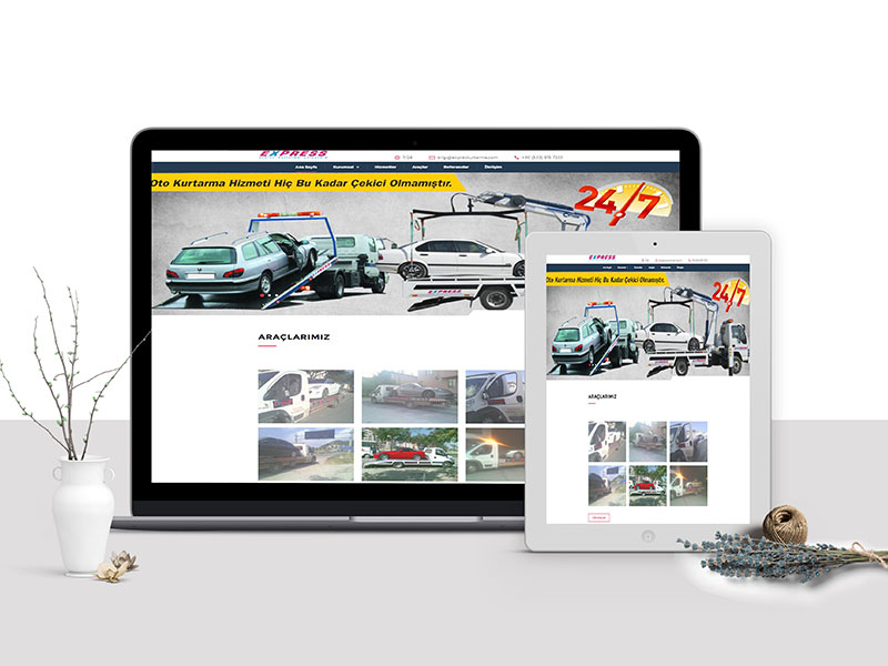 Expres Kurtarma Web Tasarım