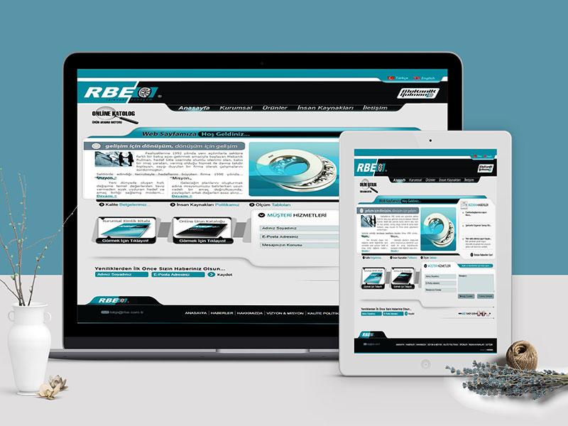 RBE - Mekanik Rulman Web Tasarım